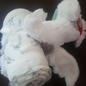 Aden Anais Swaddle Liam the brave lovey swaddle